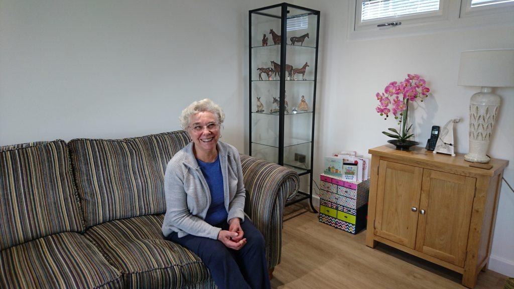 granny annexe living room