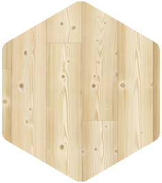 Natural Pine flooring sample from our Products and Finishes brochure.
