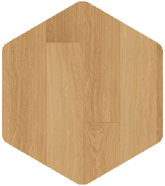 Natural varnished oak flooring.