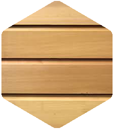 Red Cedar cladding sample from our Products and Finishes brochure.