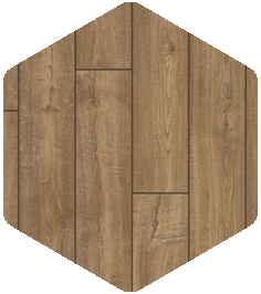 Scraped Oak Grey Brown flooring sample from our Products and Finishes brochure.
