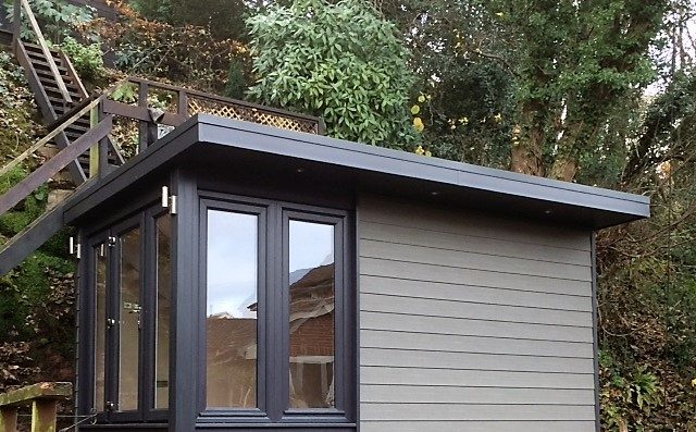 Garden Room Finished In Anthracite And Graphite