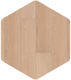White varnished oak flooring.