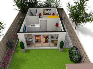 One Bedroom Granny Annexe In The Garden