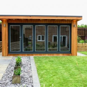 Garden building gallery view our insulated garden rooms for Cedar garden office