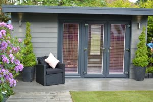 Insulated garden room used for a home business