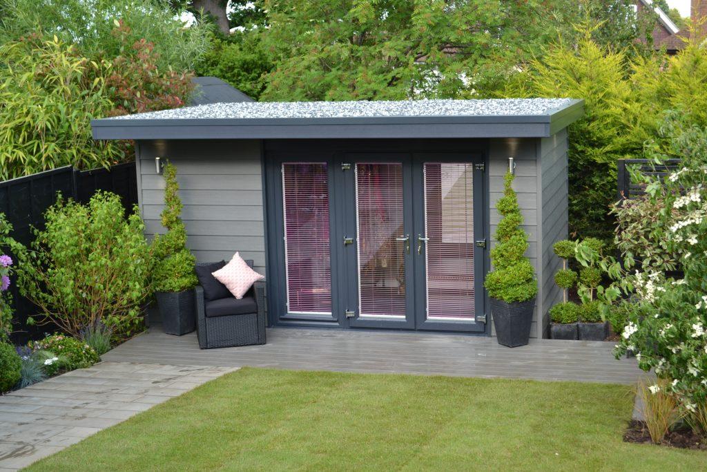 Garden building gallery view our insulated garden rooms for Green garden rooms