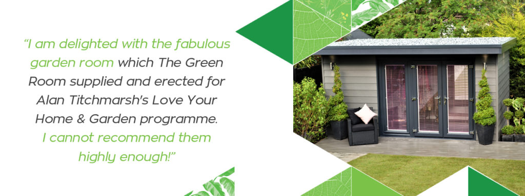 Love your Home and Garden. The Green Room Garden Room Review.