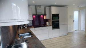 Granny Annexe Kitchen in White Gloss by The Green Room
